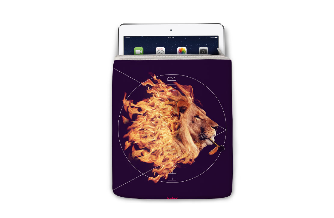 Housse Super Collection Lion Feu iPad