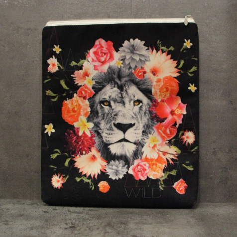 Housse Super Collection Lion Fleur iPad