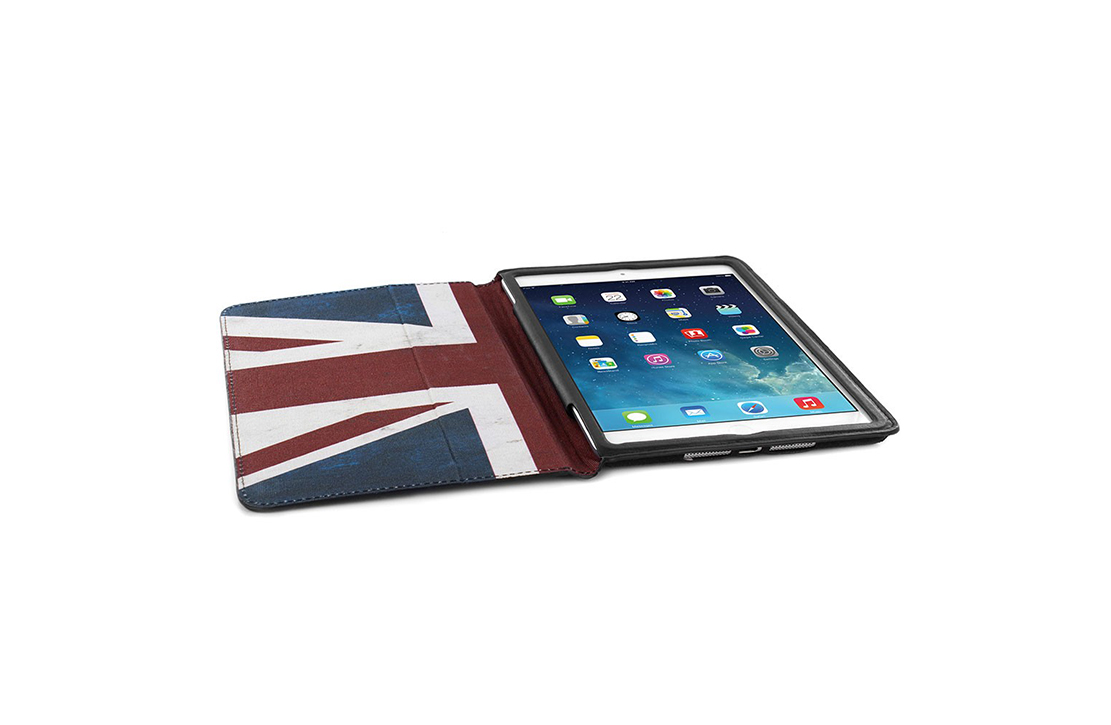 Housse pour iPad Mini noire Union Jack Barbour