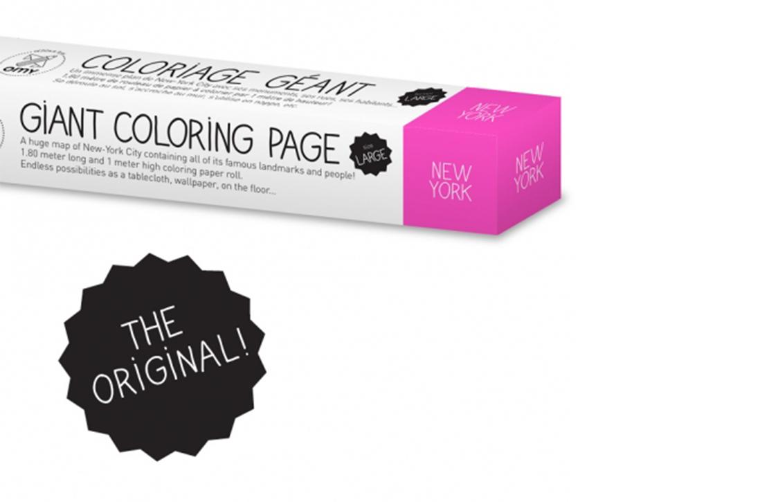 Coloriage XXL New York OMY