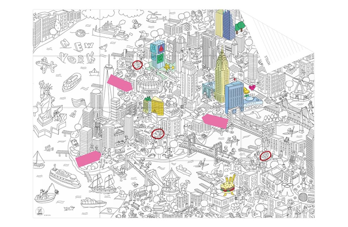 Pocket map My New York OMY