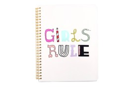 Cahier à spirales Girls rule Ban.do