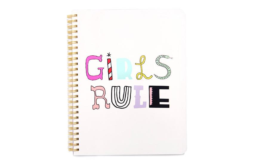 Cahier à spirales Girls rule Ban.do