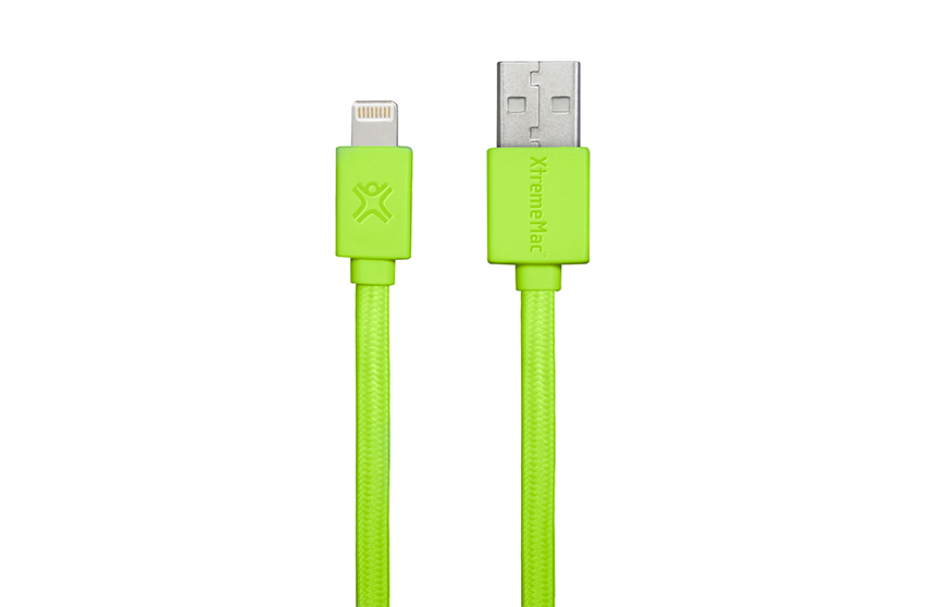 Câble Plat Lightning XtremeMac Vert