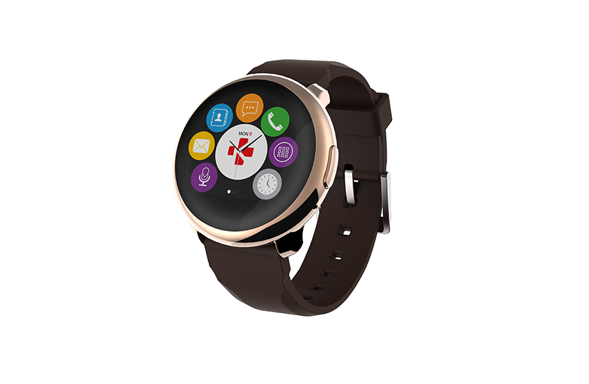 Montre connectée ZeRound MyKronoz Marron