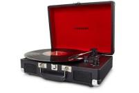 Tourne-disque Cruiser Crosley noir intérieur rouge