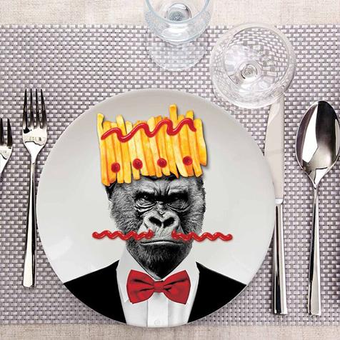 Assiette Wild Dining 23 cm Gary Gorille Just Mustard