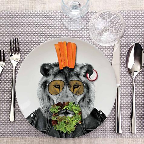 Assiette Wild Dining 23 cm Lary Lion Just Mustard
