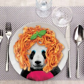 Assiette Wild Dining 23 cm Patricia Panda Just Mustard
