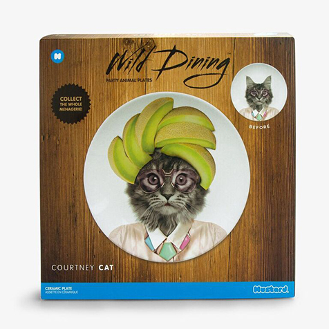 Assiette Wild Dining 23 cm Courtney Chat Just Mustard