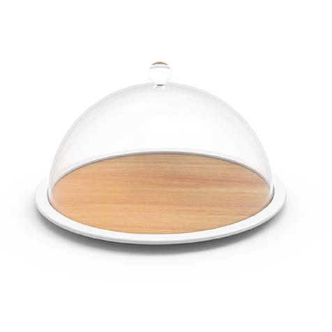 Plateau à fromage avec cloche hêtre blanc Zak Designs