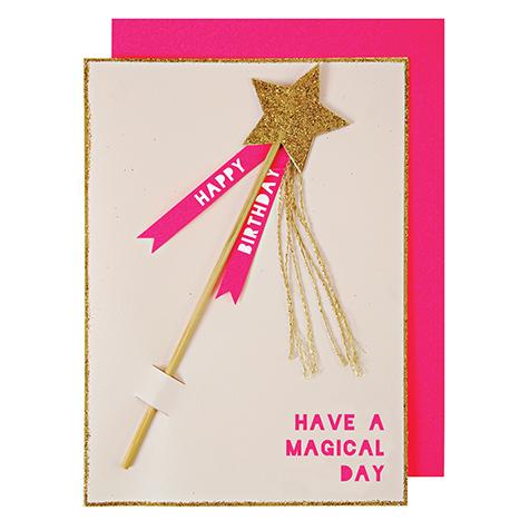 Carte postale Joyeux Anniversaire Baguette Magique Meri Meri