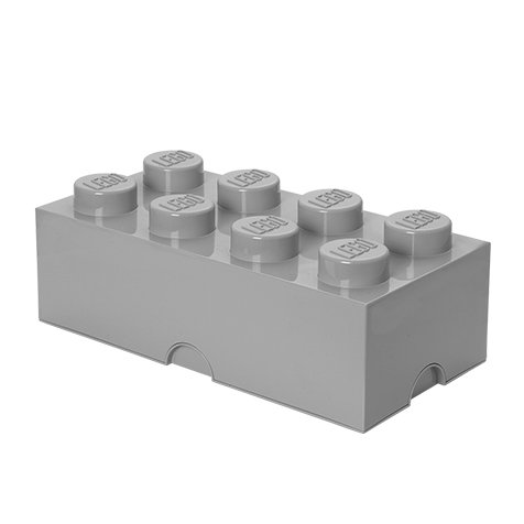 Boite de rangement empilable 8 plots grise Lego