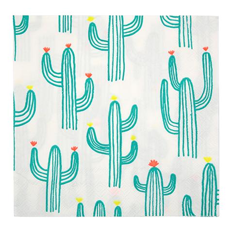 20 serviettes en papier Cactus Meri Meri
