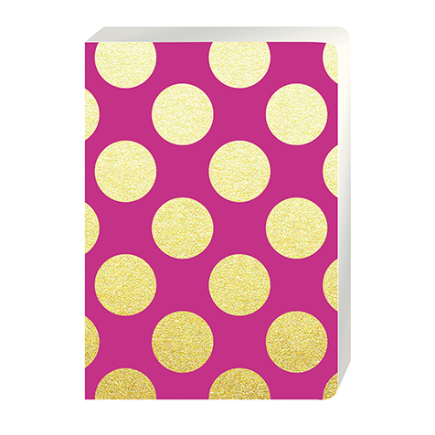 Cahier Large A5 Gold Polka Magenta Go Stationery