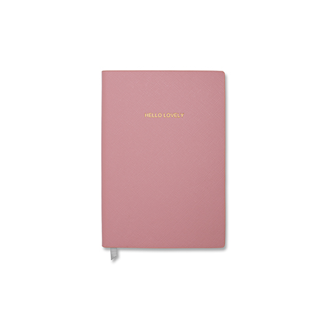 Notebook petit format Hello Lovely Rose pale Katie Loxton