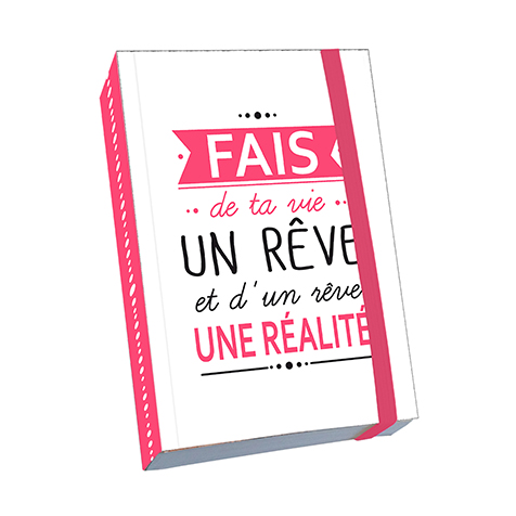 Notebook A6 Citation «Fais de ta vie un rêve » Kiub