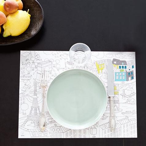 Sets de table à colorier City Omy