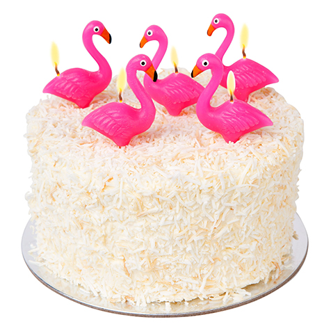 Bougies pour gâteau Flamant Rose Sunny Life