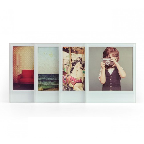 Ensemble de 4 dessous de verre Photo Polaroïd Just Mustard