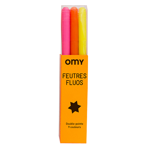 Feutres fluo Omy