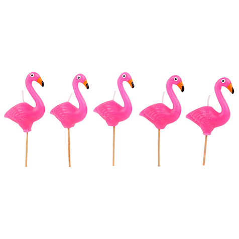 Bougies pour gâteau Flamant Rose Sunny Life