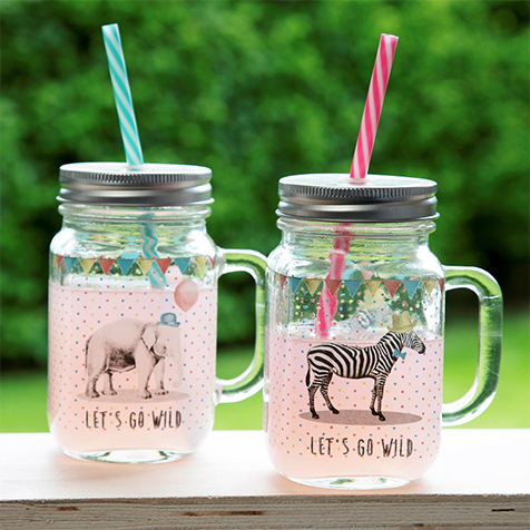 Mason jar Party animals Zèbre Sass & Belle