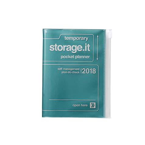 Agenda 2018 Storage.It A6 bleu métallique Mark's