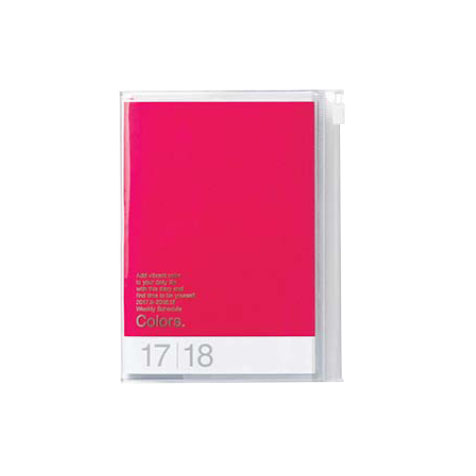 Agenda 2018 Colors A6 rouge Mark's