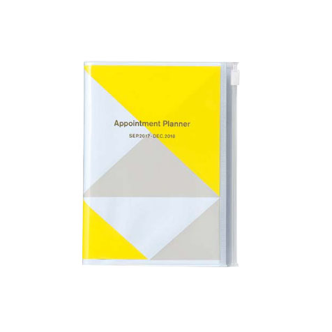 Agenda 2018 Geometric A6 jaune Mark's