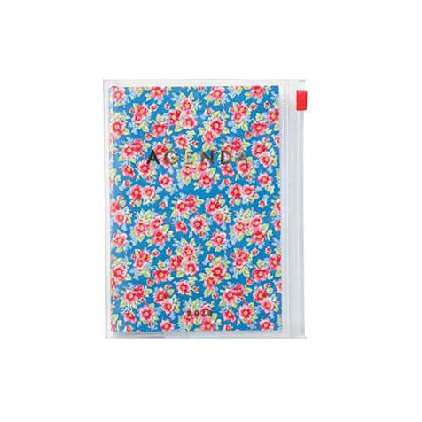 Agenda 2018 Flower A6 bleu Mark's