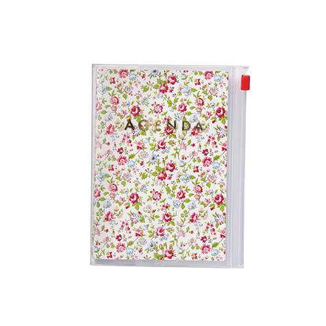 Agenda 2018 Flower A6 blanc Mark's