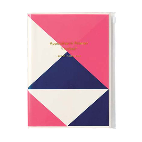 Agenda 2018 Geometric A5 rose Mark's