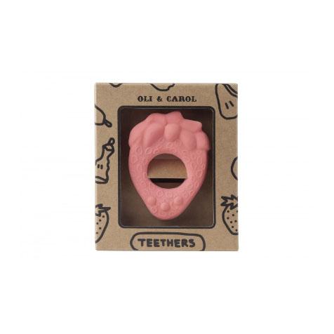Anneau de dentition Fraise rose Oli & Carol