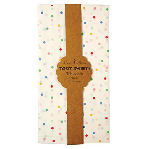 Nappe en papier Toot Sweet à pois multicolores Meri Meri