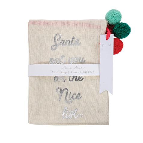 Pack de 3 sacs cadeaux Meri Meri