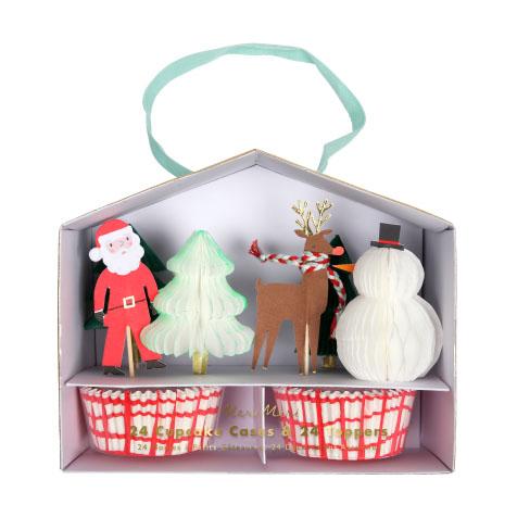 Kit cupcake Père Noël et Renne Meri Meri
