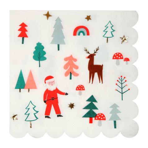 16 Serviettes en papier de Noël Meri Meri
