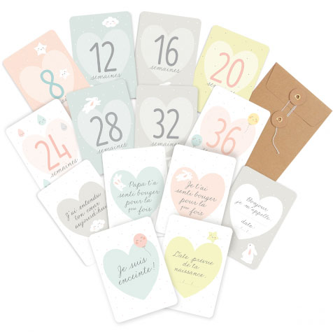 Kit souvenirs de grossesse blanc Zü
