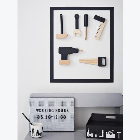 Jouet en bois Caisse à outils Design Letters