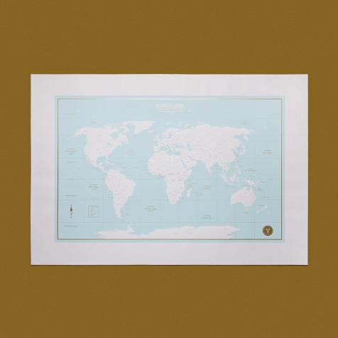 Carte du monde des aventuriers turquoise YAY