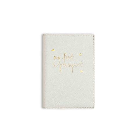 Etui pour passeport bébé blanc métallique Katie Loxton