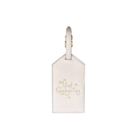 Etiquette bagage bébé blanc métallique Katie Loxton