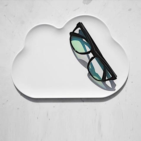 Vide poches nuage blanc Qualy
