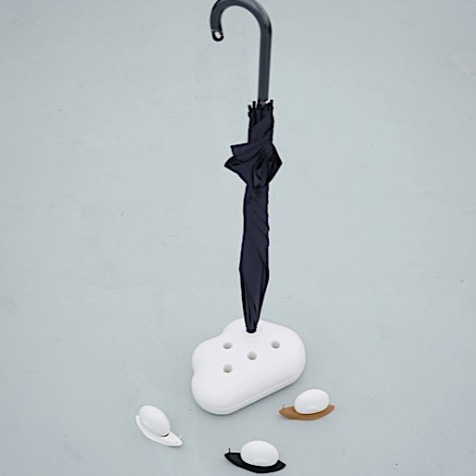 Porte parapluie nuage blanc Qualy