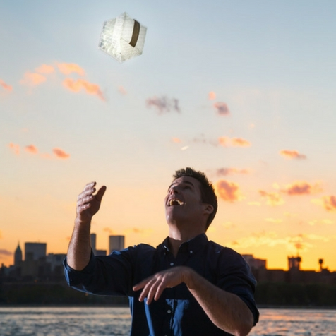 Lampe solaire blanc chaud Solarpuff Solight Design