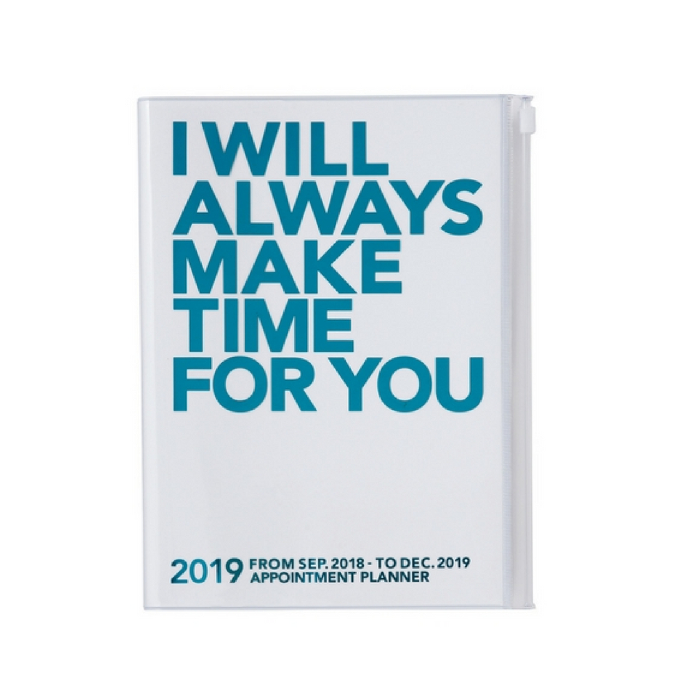 Agenda 2018-2019 Make Time A5 turquoise Mark's