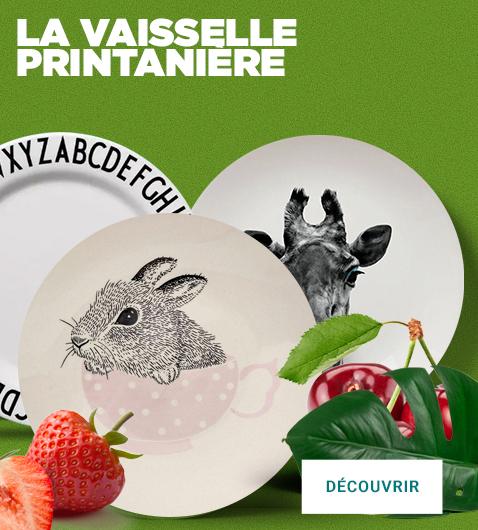 La vaisselle printanière se retrouve sur la collection BLOOMINGVILLE, JUST MUSTARD, ZAK,