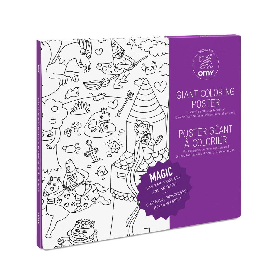 Poster Géant à colorier MAGIC by OMY