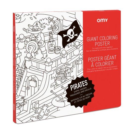 Poster Géant à colorier PIRATES by OMY